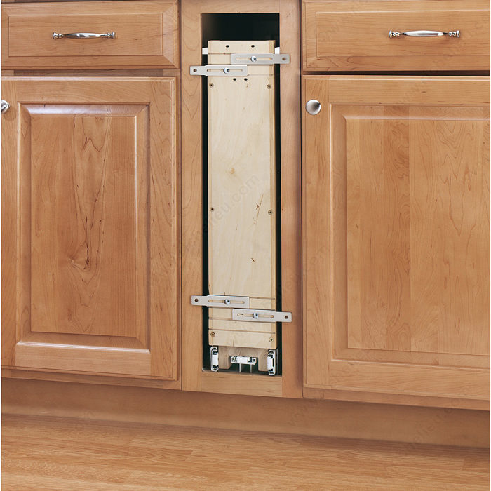 22 Birch Pull Out Shelf Kit One Shelf 1 4 Bottom: Pull-Out Organizer For Base Cabinet