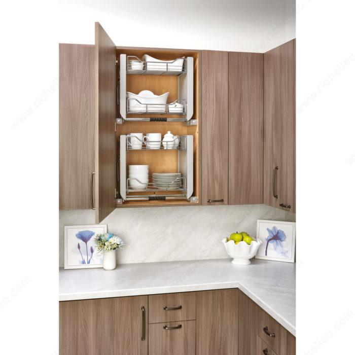 Pull Down Shelf Kitchen Showroom